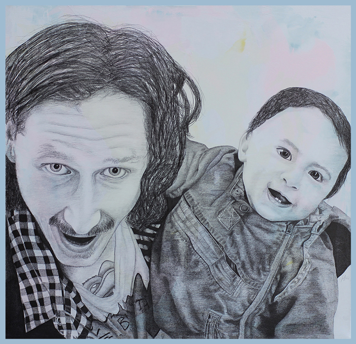 2015 | Double Trouble | Pencil and acrylic on canvas | 105x100 cm