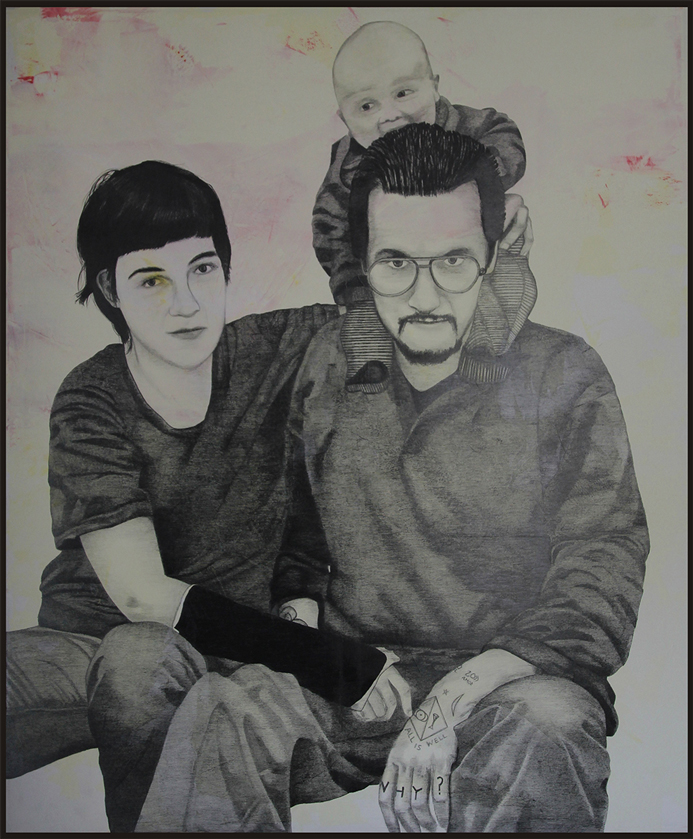 2015 | Schörgi Family | Pencil and acrylic on canvas | 150x180 cm
