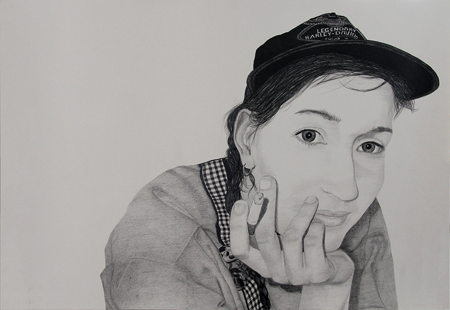 2015 | Straight Staring: Ida | Pencil on paper | 100x70 cm