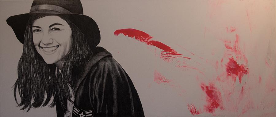 2013 | Nadine | Pencil and acrylic on canvas | 140x80 cm
