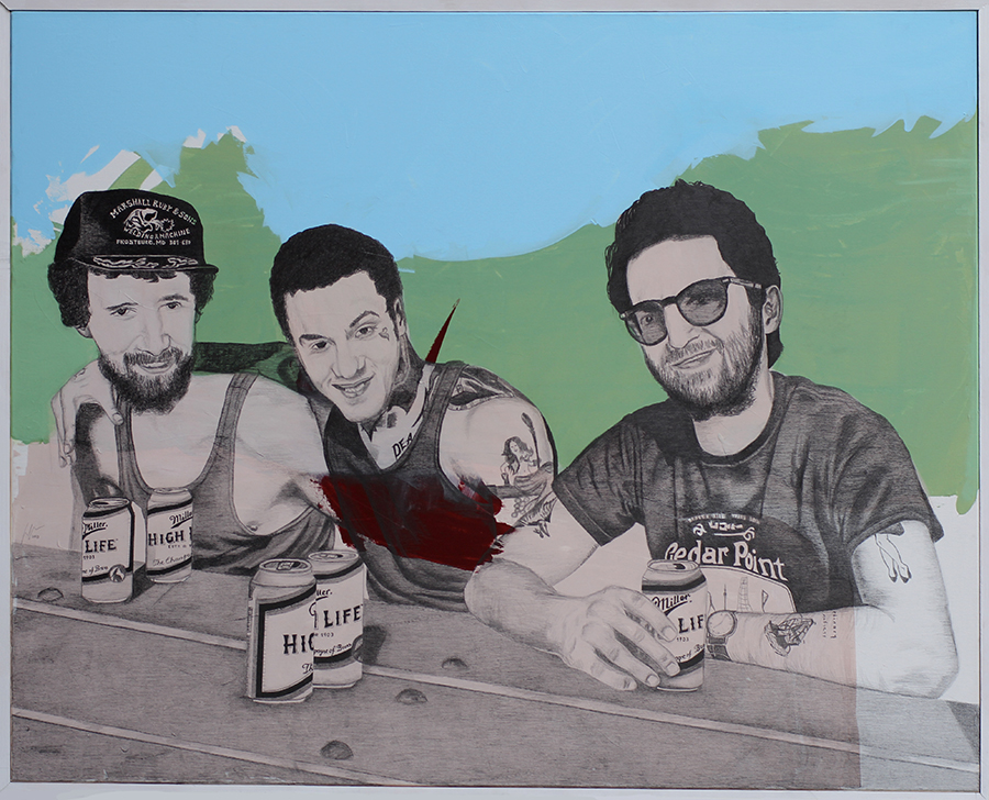 2013 | Frido, Tony & Richard | Pencil and acrylic on canvas | 150x120 cm
