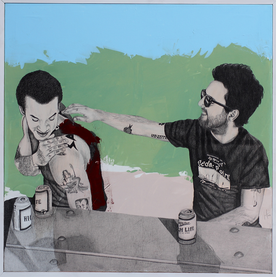 2013 | Tony & Richard | Pencil and acrylic on canvas | 120x120 cm